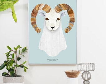 The Goat Graphic Print