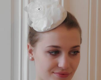 Bridal Fascinator,Wedding Fascinator,Romantic Bridal Rose Fascinator, Florial Wedding Headwear, Wedding Hair Accessory - Jolina