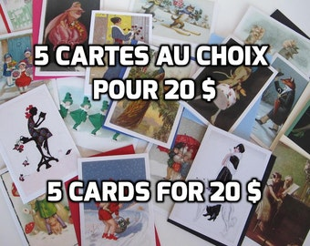 PROMOTION 5 cards for 20 Canadian dollars, 5 cards for the price of 4