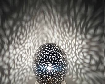 Silver table lamp - table Silver Egg - great - handmade - 20% OFF