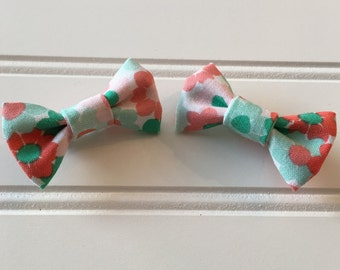 Pigtail bow set/ handmade bows/ mini pigtail bows set/ mini bows/ handmade bows for pigtails