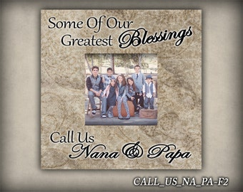 CALL_US_NA_PA: Gift For Nana, Gift For Papa, Photo Frame, Picture Frame, Gift For Grandparents, Christmas Gift, Custom Photo Frame