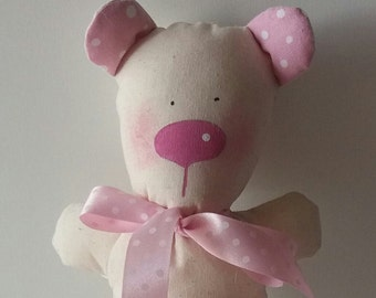 Teddy pink heart