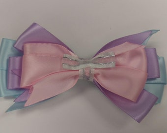 Three tiered Pinwheel Hair Bow