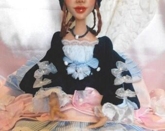 OOAK Polymer Clay Doll Katherine
