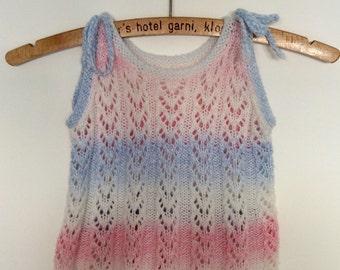 Dip dye girls hand knit
