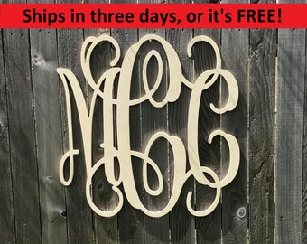 Large Wood Monogram, Vine Letters, Room Decor, Nursery Decor, Wooden Monogram, Wood Letters, Furniture, Door Hanger, Mantel Sign, Gallery