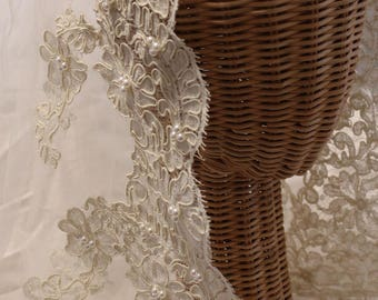 Bridal- Alencon Lace from France, Simple, Classy and Classic