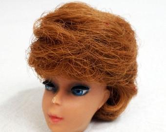 Vintage 1960s Titian Red Bubblecut Bubble Cut Barbie Doll Head Only TLC Restore