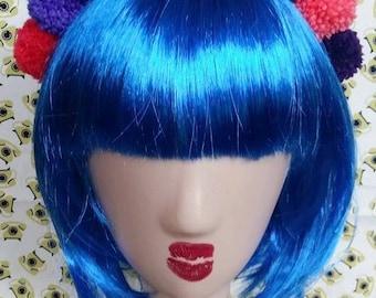 Multicoloured Festival Pom Pom Headband Crown