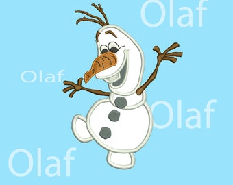 Olaf Frozen Applique  8 Size Snowman embroidery Frozen Design Embroidery Designs Christmas embroidery  Machine Embroidery Designs PES