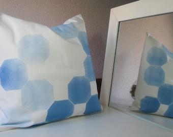 decorative pillow, pillow cover, blue, blue geometrics