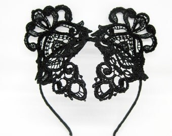 Black Lace Headpiece