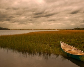 Wellfleet 8 x 12  Fine Art Print Waiting the Storm Out