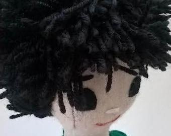 Eduardo - Compañerito Ragdoll 100% Pure Wool Felt Handmade Companion Rag Doll