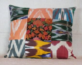 Turkish Suzani Pillow, Ikat Pillow, 17x19 Pillow Case
