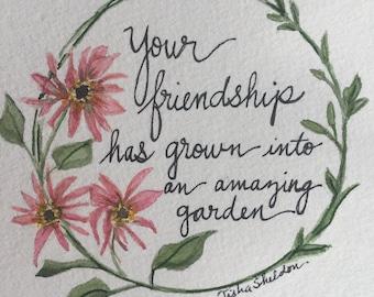 Gerber Daisy Watercolor, Friendship