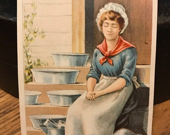 Vintage Advertising - Advertising Ephemera - De Laval Separator - Tradecard - Victorian Tradecard - Antique Tradecard  - Vintage Advertising