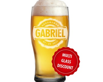 Pub Glasses, Pilsner Glass, Pub Glass, Personalized Groomsmen Gift, Beer Mugs, Personalized Beer Glasses, Groomsmen Beer Glasses, Beer Stein