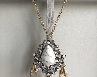 Marble Vintage Statement Necklace
