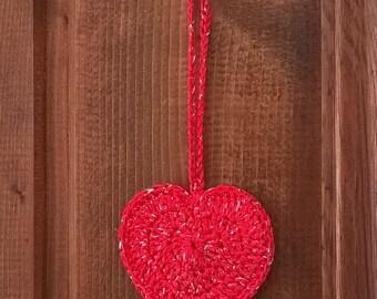 Heart Christmas decoration 3pz.