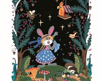 Bunny lost in the fairy forest
