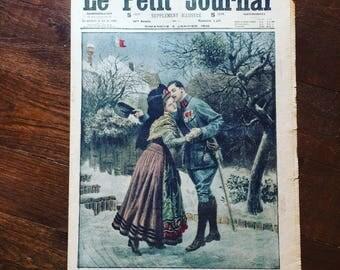 Antique French newspaper. Le Petit Journal. Supplément illustré. WWI. 14/18. Militaria. Color Illustrations. Ephemera. Old papers. 1916
