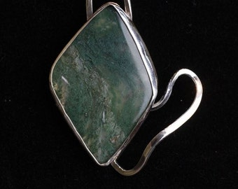 Moss Agate and Silver