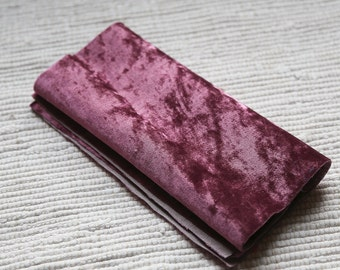 Vintage plush pale burgundy on cotton base