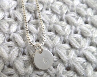 Sterling Silver 925 plated initial necklace