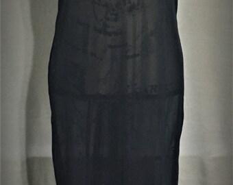 Vintage Cheongsam Sheer long Dress