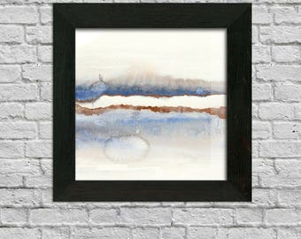 Watercolor Abstract Landscape INSTANT DOWNLOAD, Abstract Artwork, Original Painting
