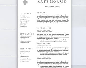 minimalist resume template clean cv template for word two