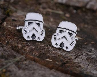 Men's Cufflinks Stormtrooper - Star Wars.