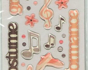 Dance Scrapbook Stickers Cloud 9 Rain Dots Embellishments Cardmaking Crafts