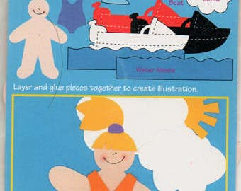 Boating Beverly Paperkins Die Cut Paper Dolls Ek Success Scrapbook Embellishments Cardmaking Crafts Paper Piecing