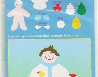 Tyler Tyke Baby Boy Paperkins Die Cut Paper Dolls Ek Success Scrapbook Embellishments Cardmaking Crafts Paper Piecing