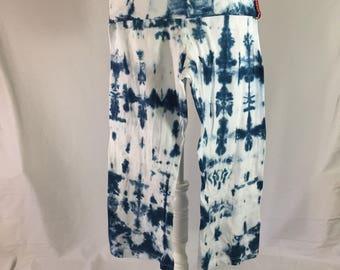 Tie-Dye Yoga Pants - Medium - Capri - Foldover Waist