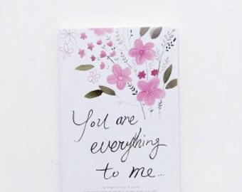 Flower-  notebook, Minimalist blank Notebook, Journal, Planner, Journal Insert, Planner Insert