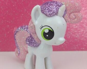 Custom My Little Pony Sweetie Belle Funko Mystery Mini Glitter Mane & Tail MLP Cutie Mark Crusaders