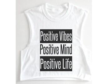 Positive Vibes, Workout tank, Positive Life, workout shirt, Positive Mind, positive thoughts, workout tank top, gym tank, Fitness