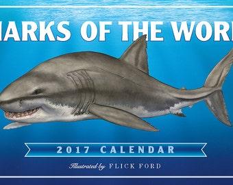 Sharks of the World 2017 Wall Calendar