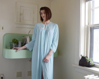 1970s Baby Blue Sheer Sears Night Gown