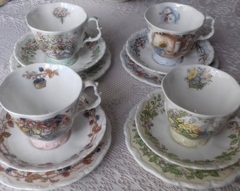 ROYAL DOULTON Brambly Hedge seasons cups saucer plates trio Spring Summer Autumn Winter collection