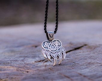 Veles Paw Pendant Animal Pendant Sterling Silver Pagan Jewelry