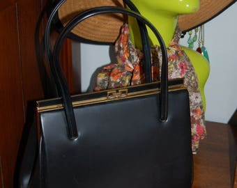 Vintage black leather Lanca bag