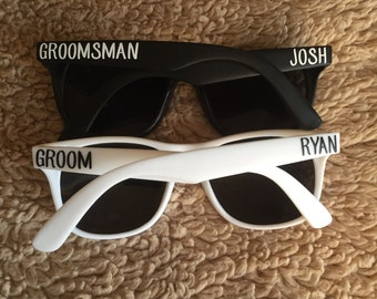 Bridal Party Sunglasses - Bachelor Party Sunglasses - Custom Sunglasses - Personalized Sunglasses - Groom and Groomsmen Sunglasses
