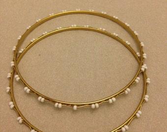 Vintage Unique Beaded Bangle Bracelets