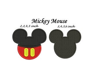 Mickey Mouse Embroidery Design - Mickey Mouse Embroidery - 2 designs Complete Stitch designs instant download