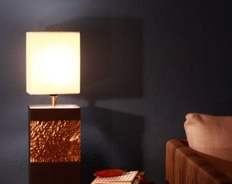 """Table lamp with beech leaves in gold """"Tampere"""""""
